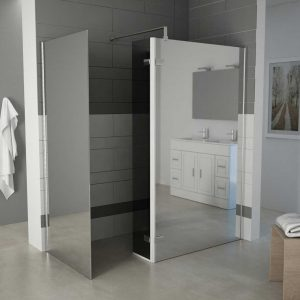TERRA – Corner Wet Room With Return And Side Panel